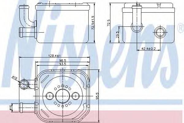 NISSENS 90654 масляный радиатор, двигательное масло
