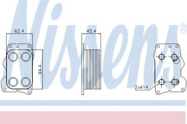 NISSENS 90740 масляный радиатор, двигательное масло
