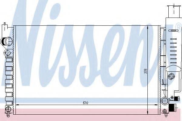 NISSENS 63613 Радиатор, охлаждение двигателя
