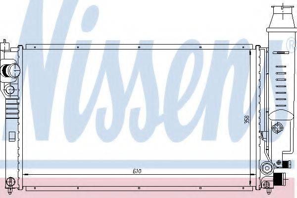 NISSENS 63614 Радиатор, охлаждение двигателя