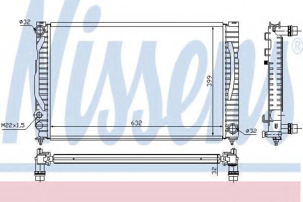 NISSENS 60497 Радиатор, охлаждение двигателя