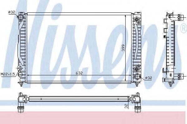 NISSENS 60498 Радиатор, охлаждение двигателя
