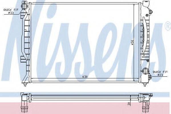 NISSENS 60422A Радиатор, охлаждение двигателя