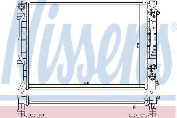 NISSENS 60423A Радиатор, охлаждение двигателя