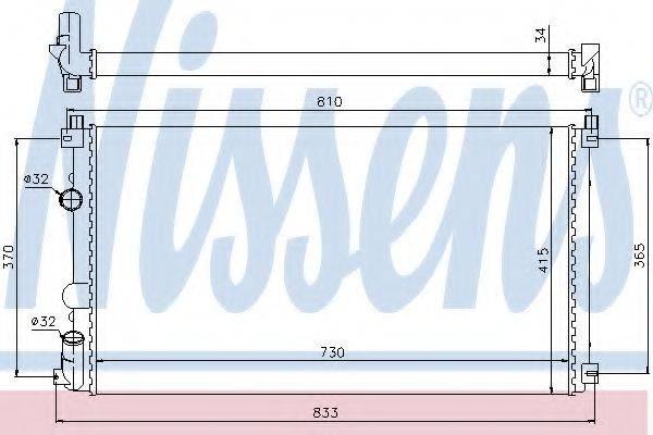 NISSENS 63819 Радиатор, охлаждение двигателя