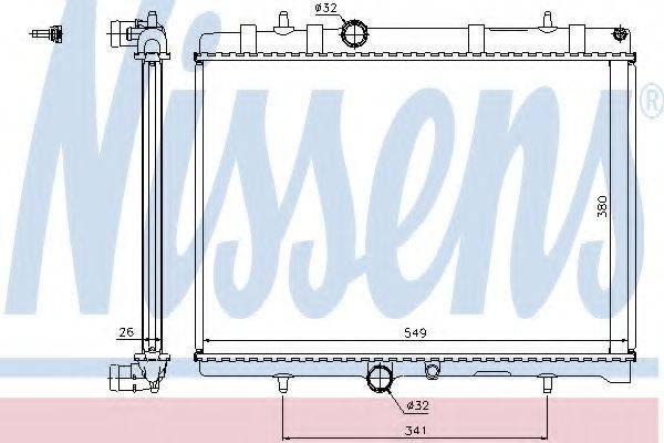 NISSENS 63606A Радиатор, охлаждение двигателя