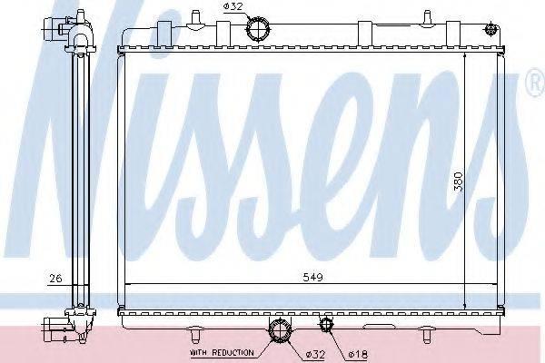 NISSENS 63607A Радиатор, охлаждение двигателя