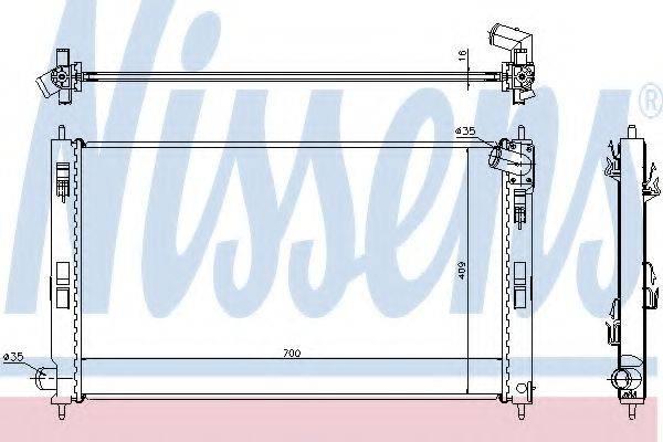 NISSENS 628952 Радиатор, охлаждение двигателя