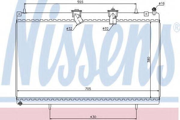 NISSENS 636003 Радиатор, охлаждение двигателя