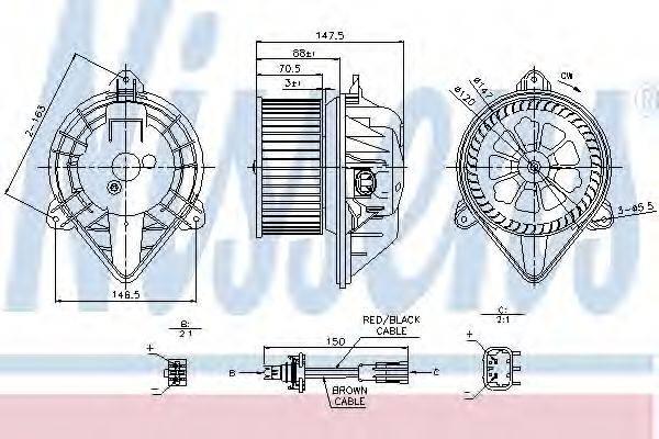 NISSENS 87024 Вентилятор салона