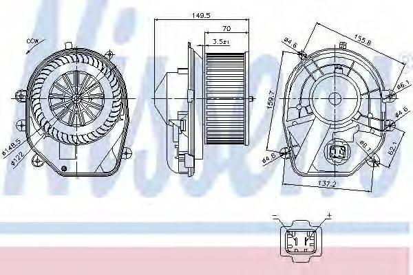 NISSENS 87030 Вентилятор салона