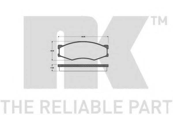 NK 222212 Комплект тормозных колодок, дисковый тормоз