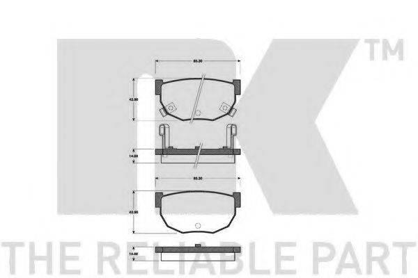 NK 222225 Комплект тормозных колодок, дисковый тормоз