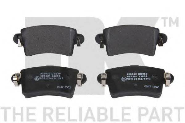 NK 223632 Комплект тормозных колодок, дисковый тормоз