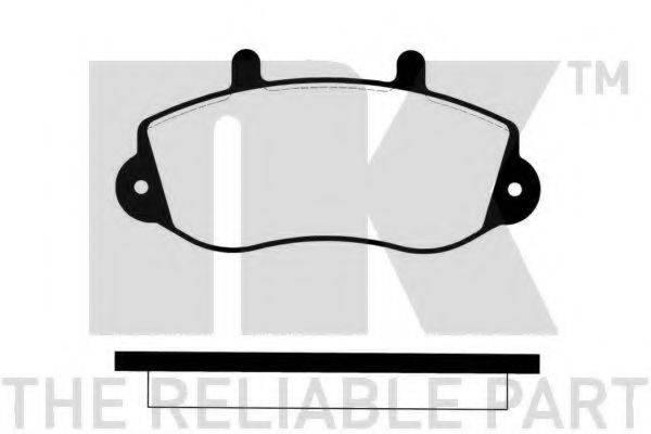 NK 223945 Комплект тормозных колодок, дисковый тормоз