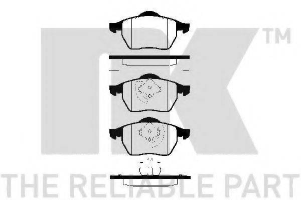 NK 224734 Комплект тормозных колодок, дисковый тормоз