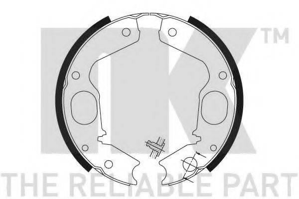 NK 2730645 Комплект тормозных колодок, стояночная тормозная система