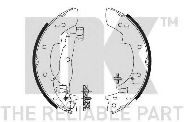 NK 2799307 Комплект тормозных колодок