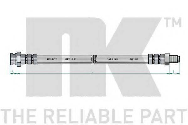 NK 853018 Тормозной шланг