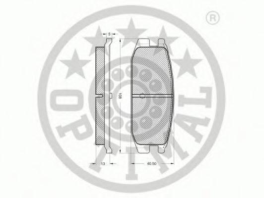 OPTIMAL 9442 Комплект тормозных колодок, дисковый тормоз