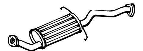WALKER 18281 Глушитель выхлопных газов конечный