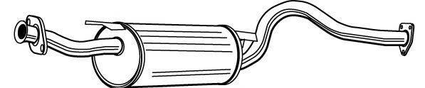 WALKER 22219 Средний глушитель выхлопных газов