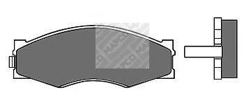 MAPCO 6655 Комплект тормозных колодок, дисковый тормоз