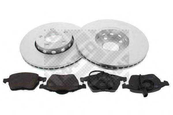 MAPCO 47860HPS Комплект тормозов, дисковый тормозной механизм