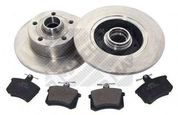 MAPCO 47862 Комплект тормозов, дисковый тормозной механизм