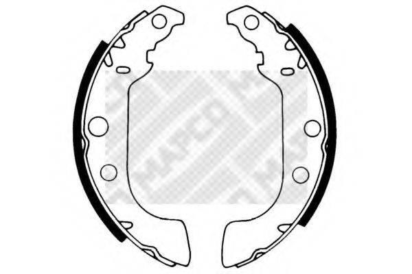 MAPCO 8321 Комплект тормозных колодок