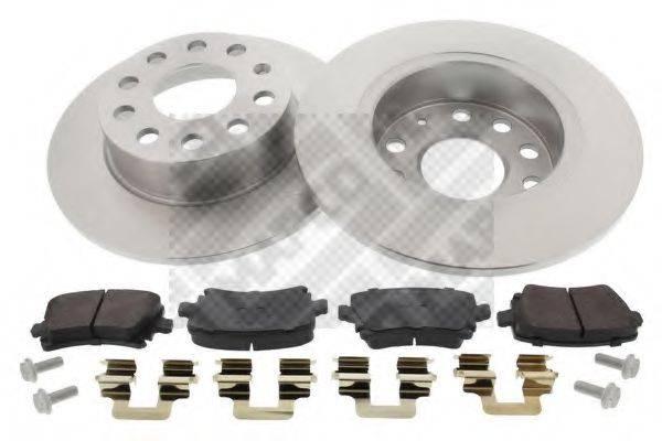 MAPCO 47842 Комплект тормозов, дисковый тормозной механизм