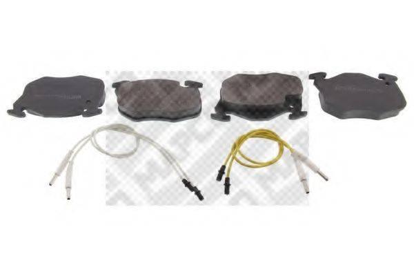 MAPCO 6189 Комплект тормозных колодок, дисковый тормоз