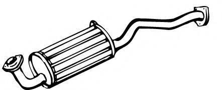 FONOS 612282 Глушитель выхлопных газов конечный