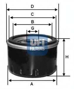 UFI 2324000 Масляный фильтр