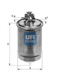 UFI 2442400 Топливный фильтр