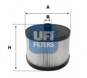 UFI 2602200 Топливный фильтр