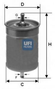 UFI 3150000 Топливный фильтр