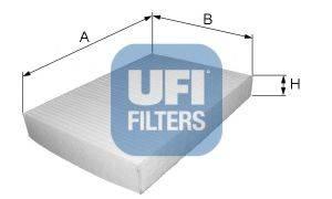 UFI 5301300 Фильтр, воздух во внутренном пространстве