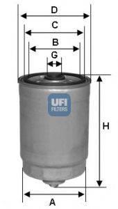 UFI 2437800 Топливный фильтр