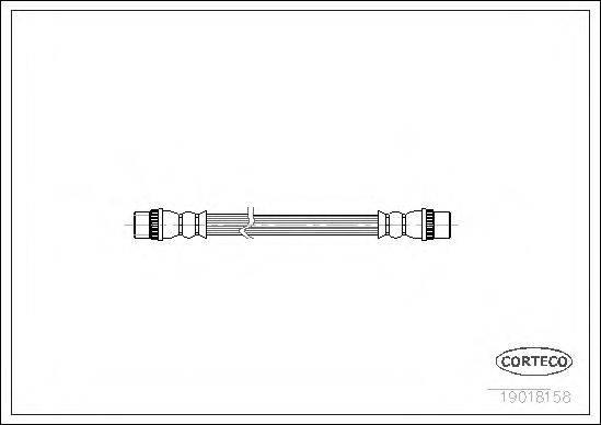 CORTECO 19018158 Тормозной шланг