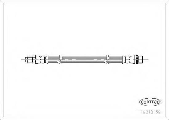 CORTECO 19018159 Тормозной шланг