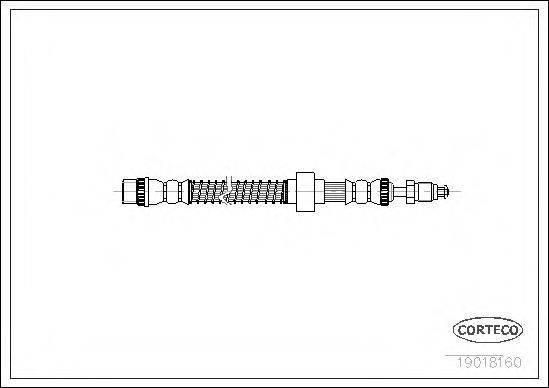 CORTECO 19018160 Тормозной шланг