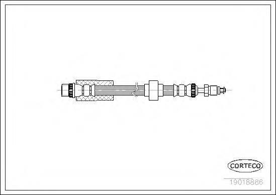 CORTECO 19018886 Тормозной шланг