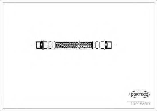 CORTECO 19018890 Тормозной шланг