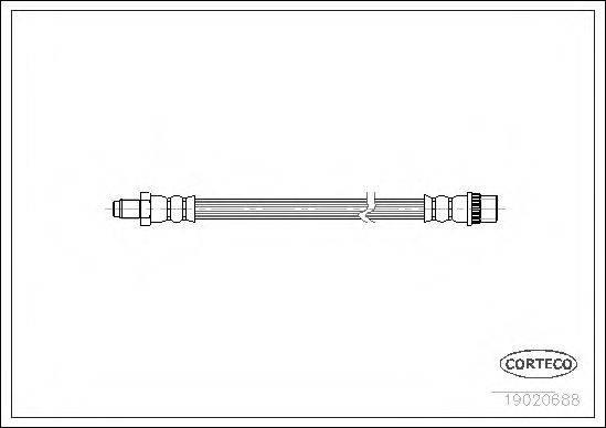 CORTECO 19020688 Тормозной шланг