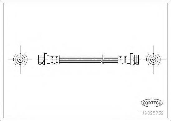 CORTECO 19025732 Тормозной шланг