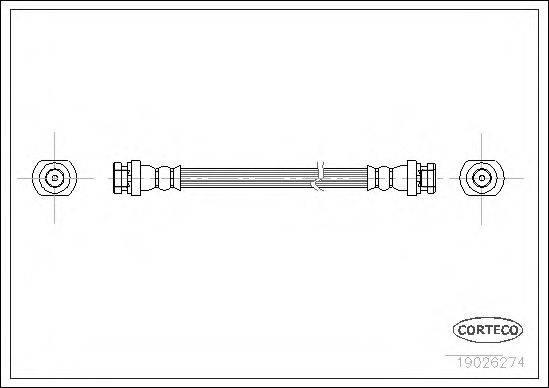 CORTECO 19026274 Тормозной шланг