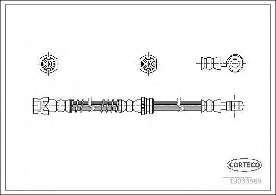 CORTECO 19033569 Тормозной шланг