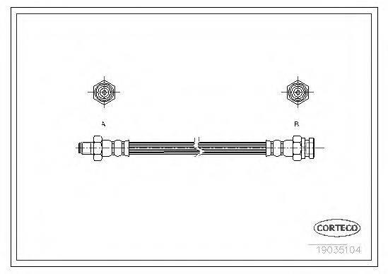 CORTECO 19035104 Тормозной шланг