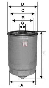 SOFIMA S4378NR Топливный фильтр